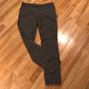 Gap black/white geo print slim cropped pants, 4T